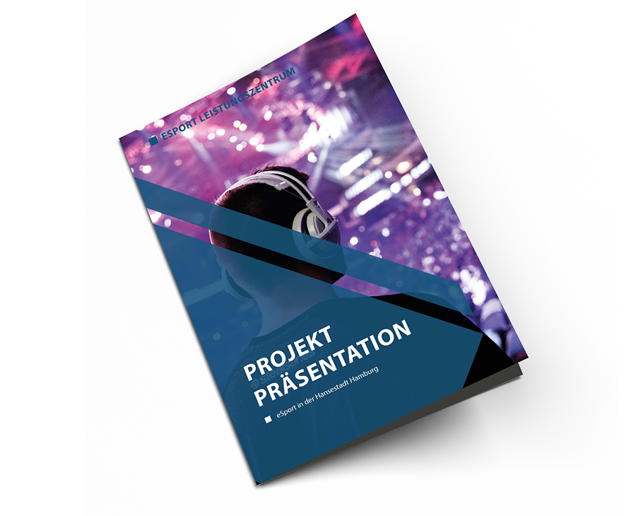 Printdesign Projektpräsentation eSport Leistungszentrum