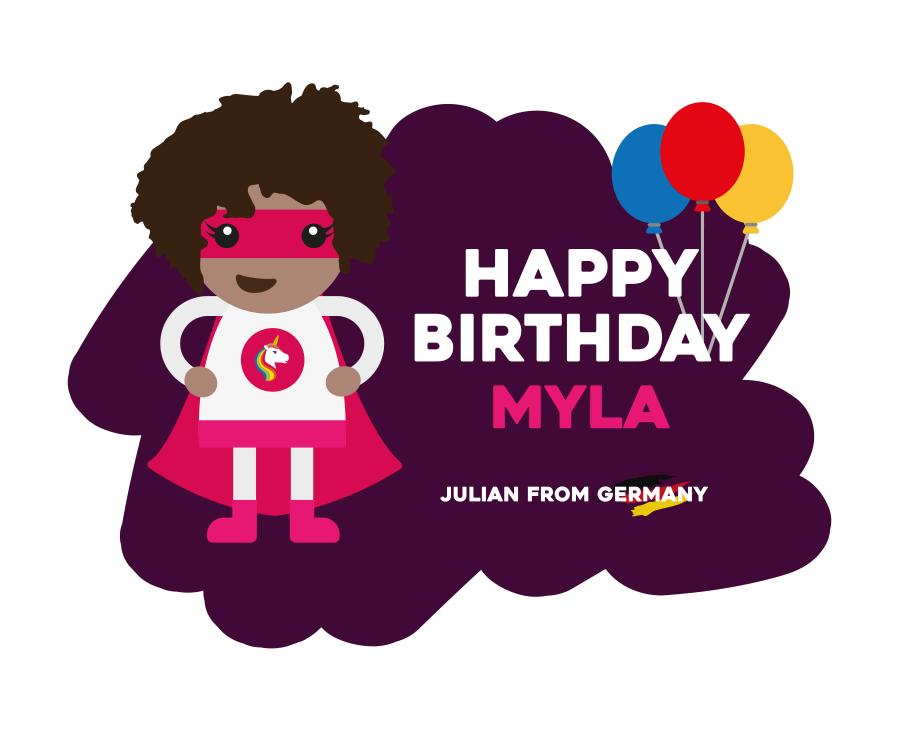 Illustration Myla Birthday