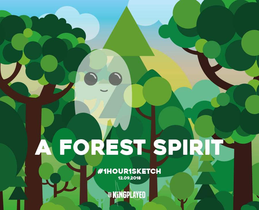 Illustration Forest Spirit