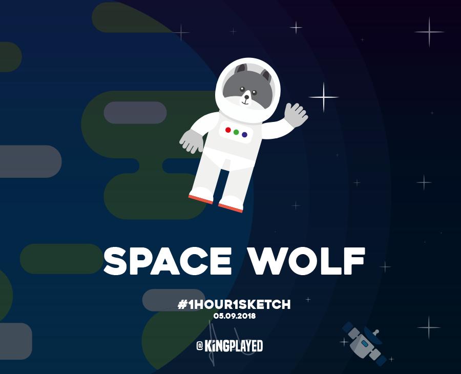 Illustration Space Wolf