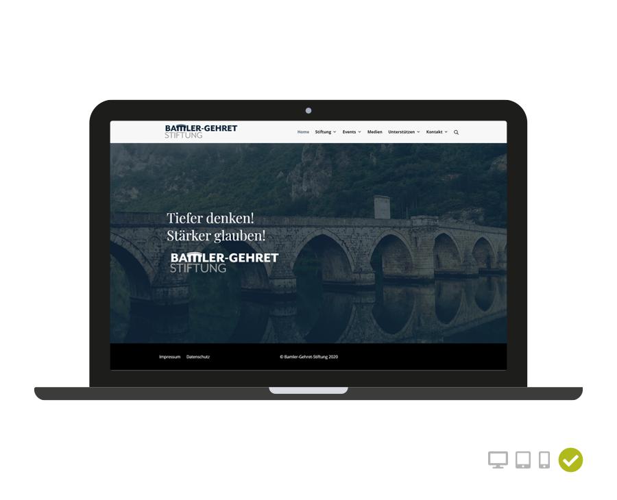 Webseite Bamler-Gehret Stiftung
