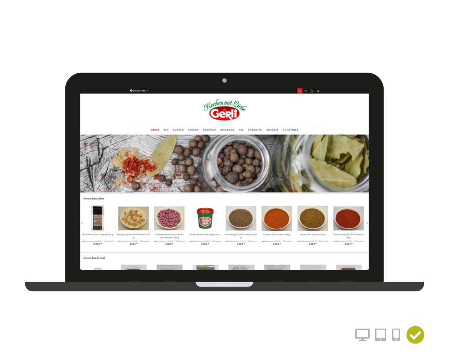 Webseite Gerli - Kochen mit Liebe